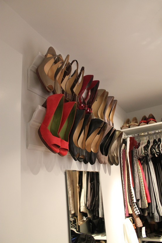 Crown-Molding-Shoe-Storage-design-closet-idea