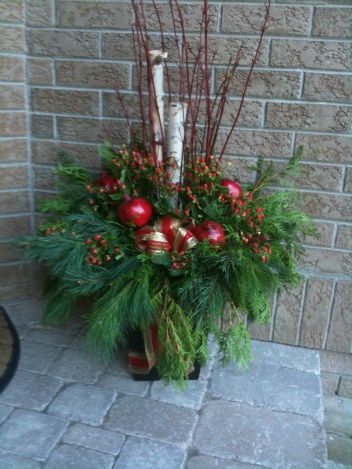 Holiday Outdoor Urn