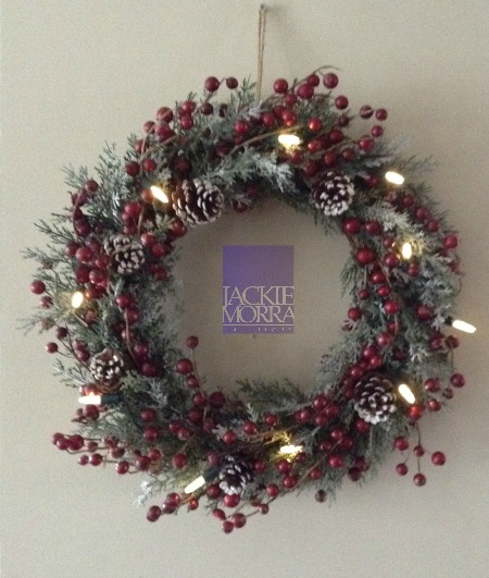 Berries  Pine Cone Wreath After Jackie Morra Interiors