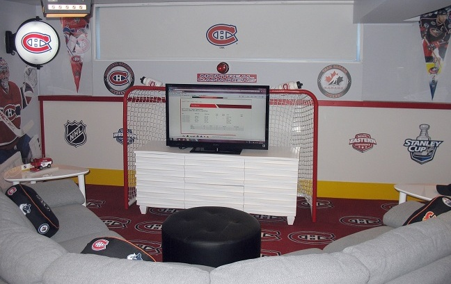 hockey basement rink boards
