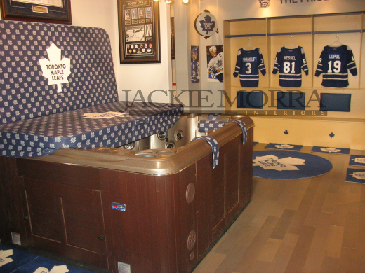 Hockey Fan Cave Hot Tub