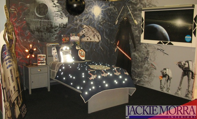 star wars space themed kids bedroom decor ideas